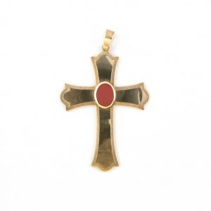 gammarelli-insegna-vescovile-croce-argento-corniola