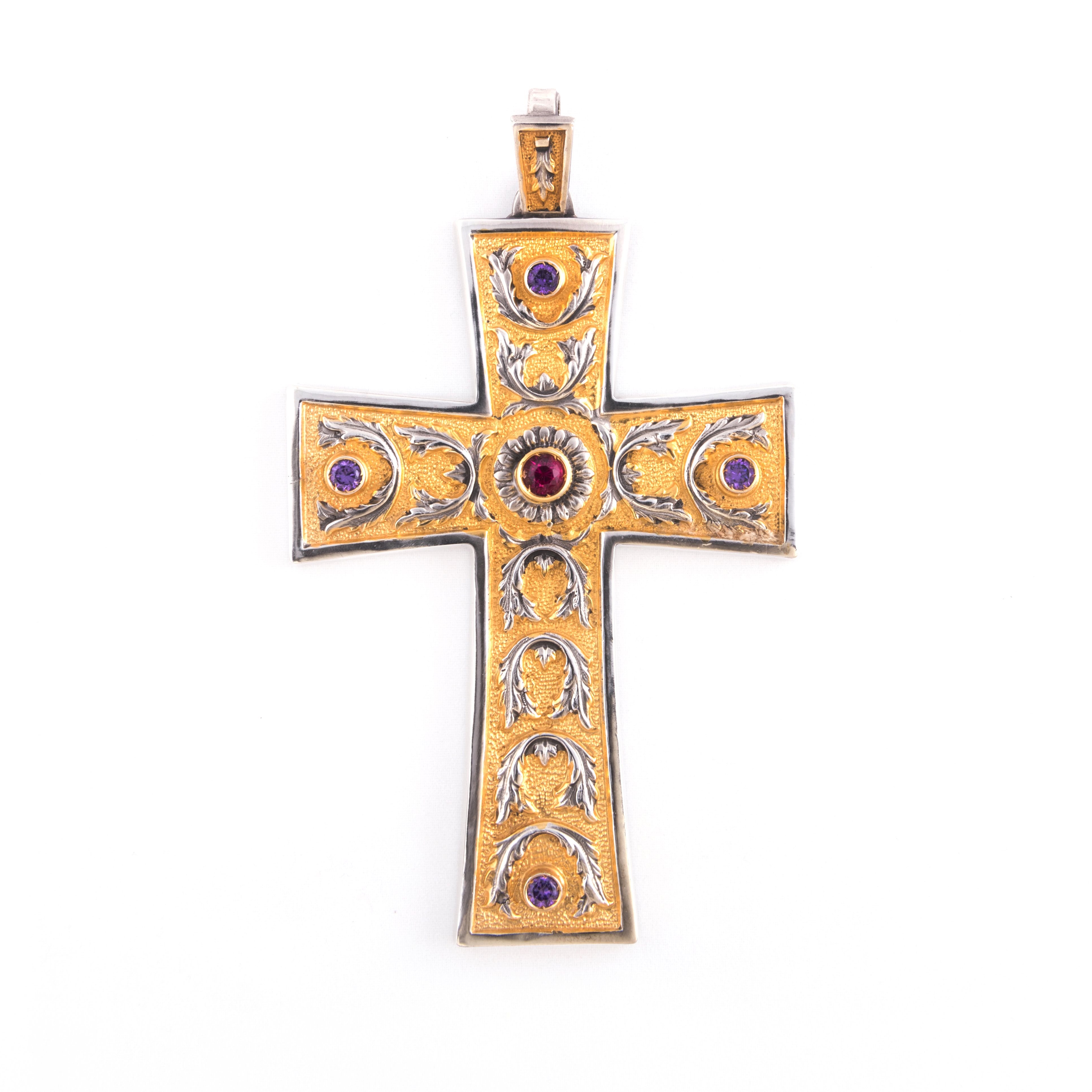gammarelli-insegna-vescovile-croce-margherita-argento