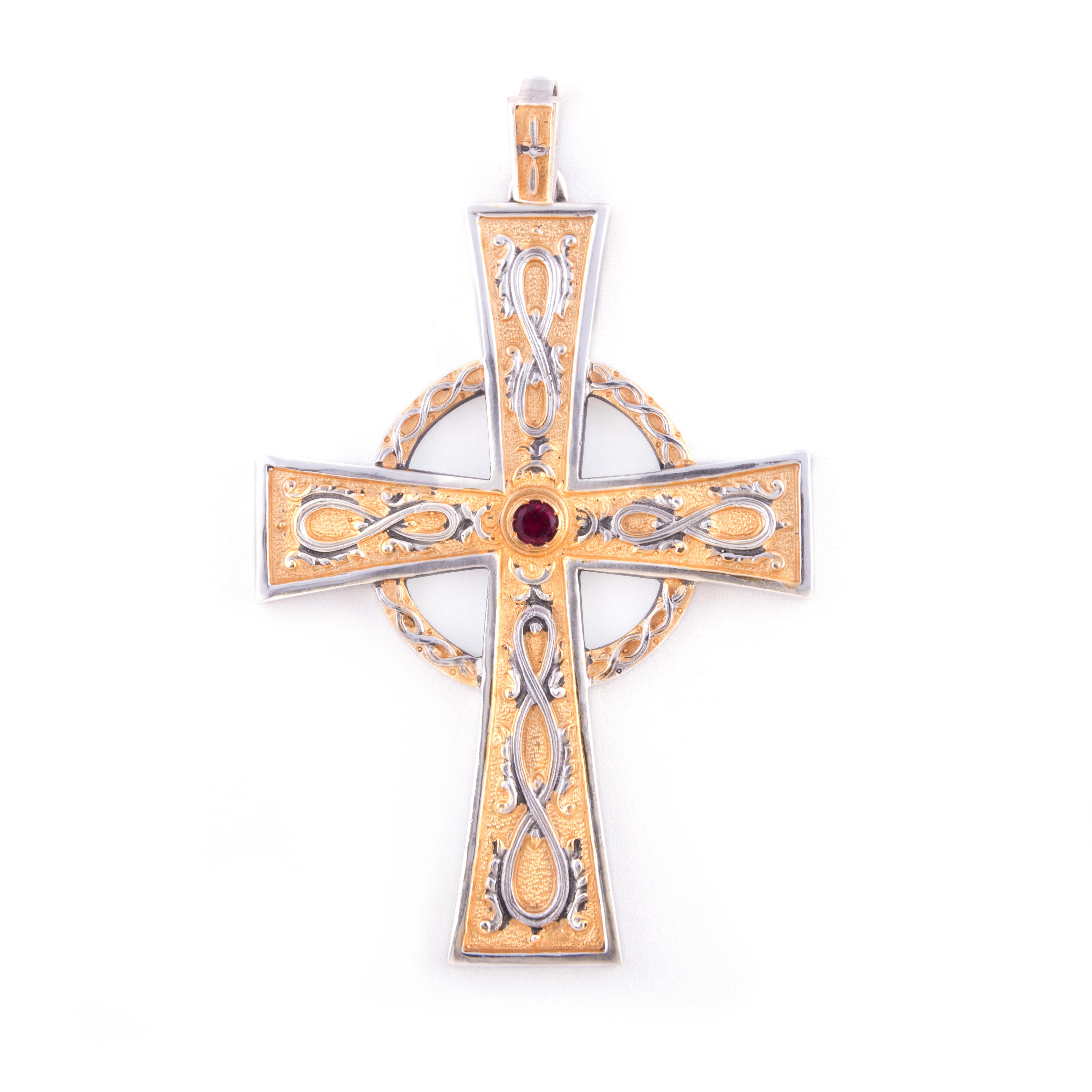 gammarelli-croce-celtica-bicolore-insegna-vescovile