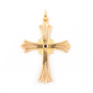 gammarelli-croce-raggiera-metallo-insegna-vescovile