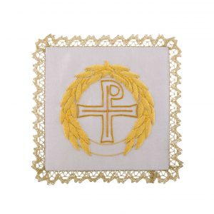 gammarelli-tailoring-clergy-apparel-garments-altar-pall-linen-mary-embroidery-cross-leaves