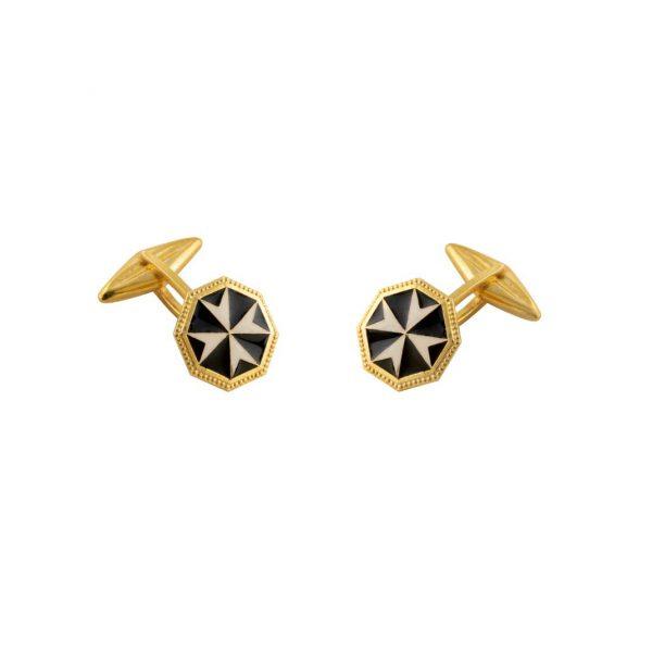 gammarelli-decorazioni-accessori-gemelli-sacro-militare-ordine-malta-nero
