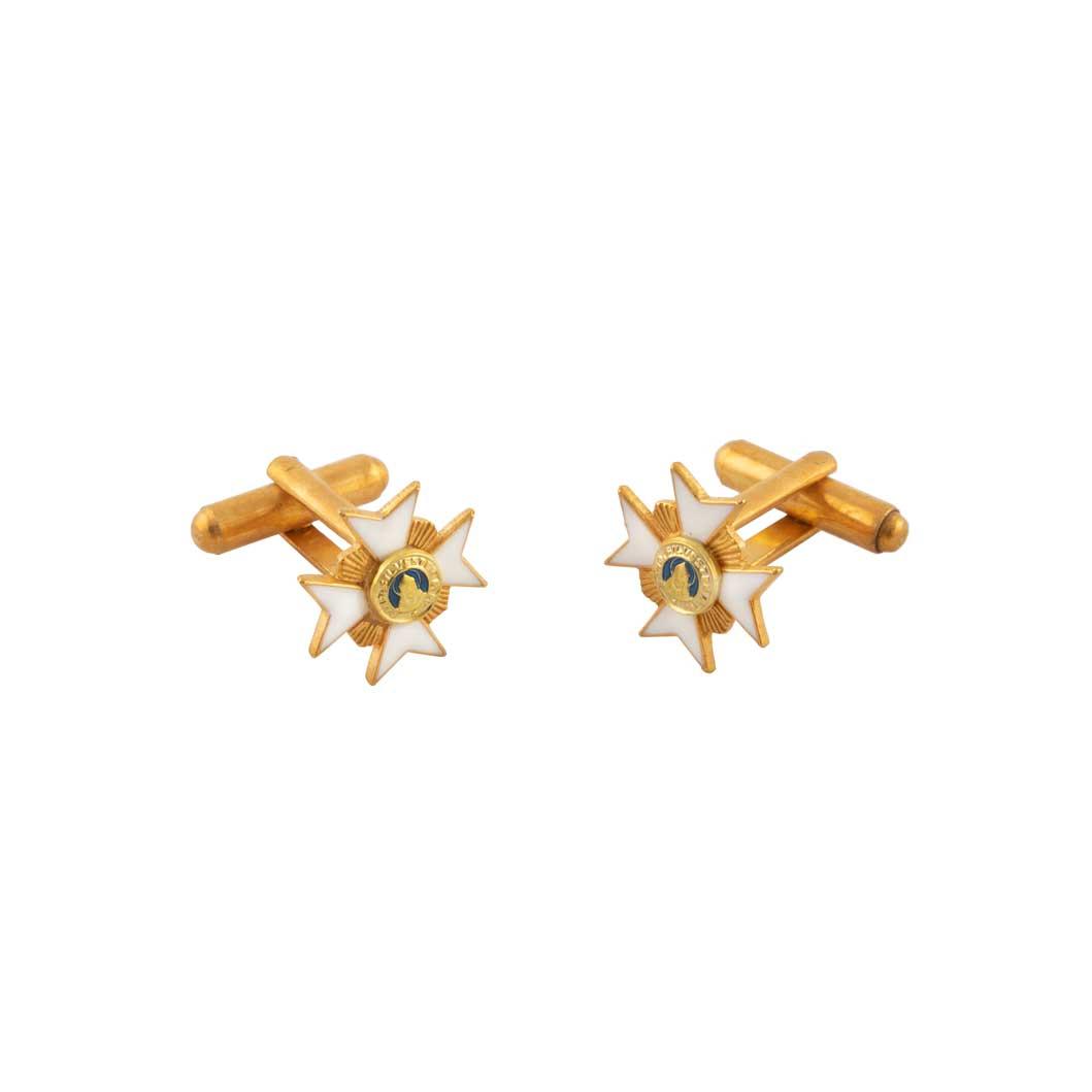 gammarelli-decorazione-accessorio-gemelli-ordine-san-silvestro-papa-metallo