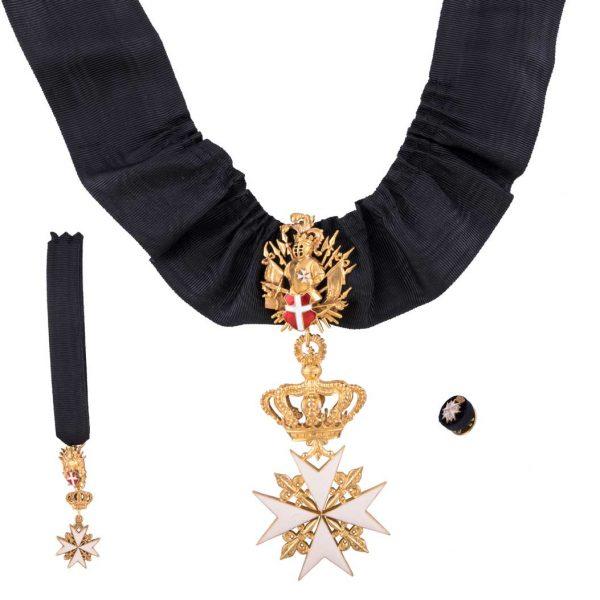 gammarelli-decorazione-cavaliere-onore-devozione-sovrano-ordine-malta-rosetta-miniatura