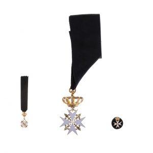 gammarelli-decorazione-ordine-malta-cappellano-magistrale-rosetta-miniatura
