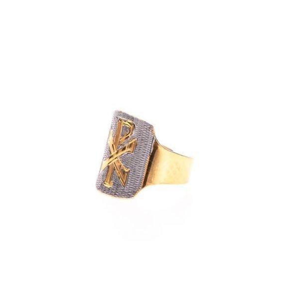 gammarelli-sartoria-cattolica-ecclesiastici-insegne-vescovile-anello-insegne-vescovili-accessorio-pax-argento-bicolore